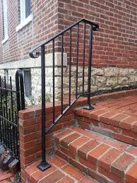Handrail For Two Steps Diy Iron X Handrail Picket 2 Fits 2 Or 3 Steps Amazon Com