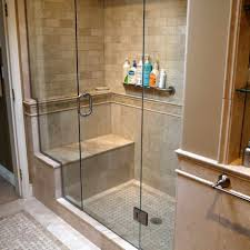 shower tub combo design with double wall niche shelf and