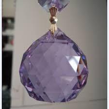 top quality 4pcs lot sparkle purple faceted glass crystal chandelier parts pendant prisms lighting ball