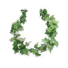6ft artificial green variegated garland flocked leaves
