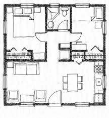 small house floor plan without legend two bedroom house plans