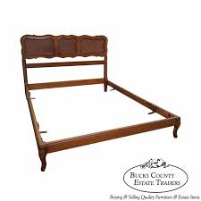 vintage french country style full size cane back bed by bodart