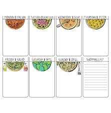 weekly menu templates free creative weekly menu template free