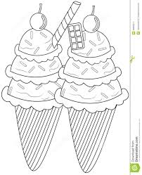 ice cream coloring page stock illustration image 49893271