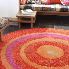 Red Oval Rug Red Circle Rug Roselawnlutheran