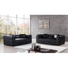 Black Leather Living Room Sets by Modern Living Room Sets Allmodern