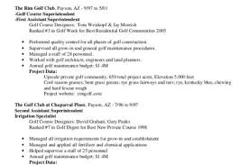 Sample Construction Superintendent Resume by Golf Course Maintenance Resume Sample Superintendent Resume Golf