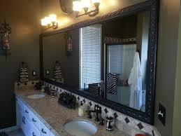 framed bathroom mirrors ideas framing bathroom mirror design ideas