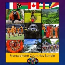 francophone countries flags photos maps facts flashcards
