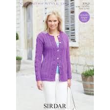 sirdar country style dk ladies u0027 cardigan digital pattern 7757