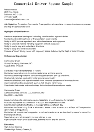 Bus Driver Resume Template Professional Experience Commercial Job Objective Bus Driver Resume