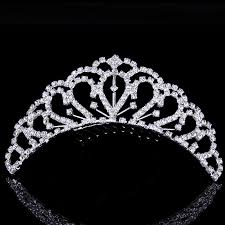 wedding tiara allens bridal gorgeous alloy and rhinestiones wedding tiara