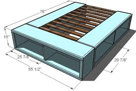 Plans For King Size Platform Bed With Drawers by Enchanting Queen Platform Bed With Drawers Plans And Ana White