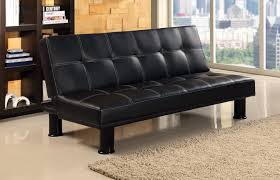 black sofa bed leather match covering orange county ca
