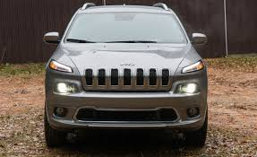 jeep cherokee lights 2018 jeep cherokee in depth model review car and driver