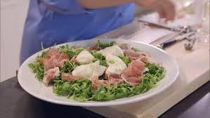 barefoot contessa arugula salad arugula with proscuitto and burrata recipe ina garten food network