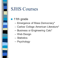 high school web design class sjhs college in high school courses expectations of the course and