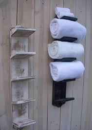 bathroom towel hanging ideas wood wall mounted bath towel holder storage towel hanger towel