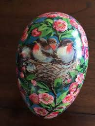 vintage paper mache easter eggs large antique paper mache easter egg candy container