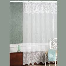 Fabric Shower Curtains With Valance White Lace Shower Curtain With Valance Curtain Ideas