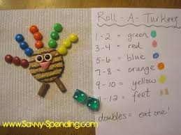 savvy spending roll a turkey preschool game plus a use for