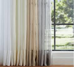 Pottery Barn Linen Curtains Belgian Flax Linen Sheer Drape Pottery Barn Linen Sheers Citys Home