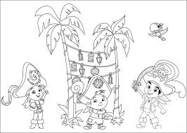and the never land pirates coloring pages