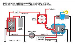 marine dual battery wiring diagram diagram wiring diagrams for