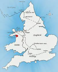 Map Of Wales England by The World According To Barbara November 2012
