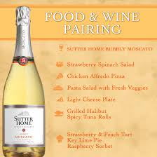 what to pair with bubbly moscato sutter home wine food pairing