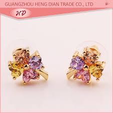 daily wear diamond earrings fashion simple design daily wear diamond stud earrings women cubic