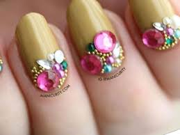 rhinestone nail designs 31 most amazing pictures stylepics