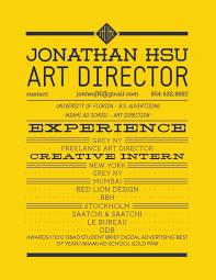 Advertising Resume Resume Jonathan Hsu
