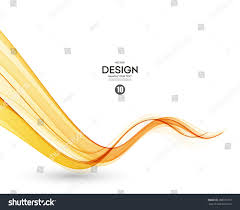 Orange Color by Abstract Orange Color Wave Design Element Stock Vector 388371877