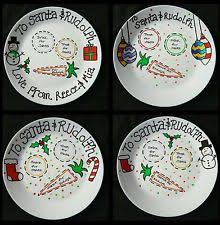 christmas plates personalised christmas plate santa rudolph ebay