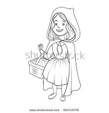red riding hood coloring book stock vector 564748795