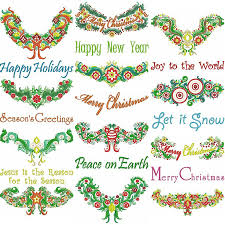 enchanting christmas garland machine embroidery designs by sew swell