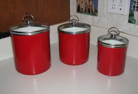 Kitchen Canisters Ceramic Red Kitchen Canister Sets Red Kitchen Canisters In Vintage Style