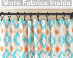 Navy Blue Curtains For Nursery Orange Curtain Panels Orange Aqua Blue Curtains Nursery