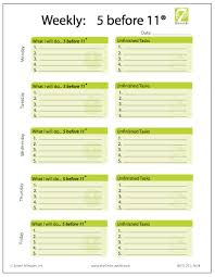 weekly project time management worksheet