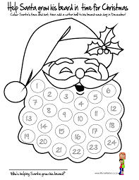 cotton ball santa template help santa grow his beard in time for
