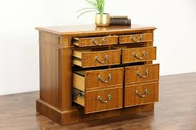 Walnut Filing Cabinet 2 Drawer by Sold Custom Walnut 6 Drawer Vintage Lateral Executive Office