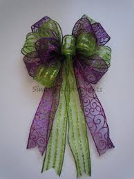 purple green christmas wreath bow glitter purple lime christmas