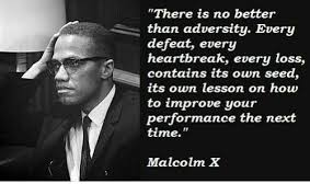 Malcolm X Memes - there is no better than adversity every defeat every heartbreak