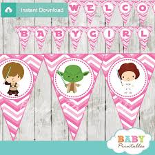 wars baby shower decorations pink chevron wars baby shower banner d206 pennant banners