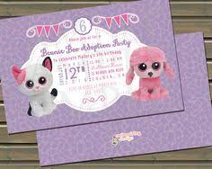 beanie boo birthday glamour invitation beanie boo birthday