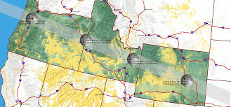 State Map Of Oregon by National Solar Eclipse Bureau Of Land Management