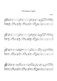 christmas lights cold play christmas lights coldplay piano sheet music