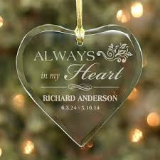 memorial christmas ornaments personalized always in my heart christmas memorial ornaments