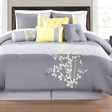 Yellow And Grey Bed Set Grey And Yellow Comforter Intelligent Design 5 Comforter Set